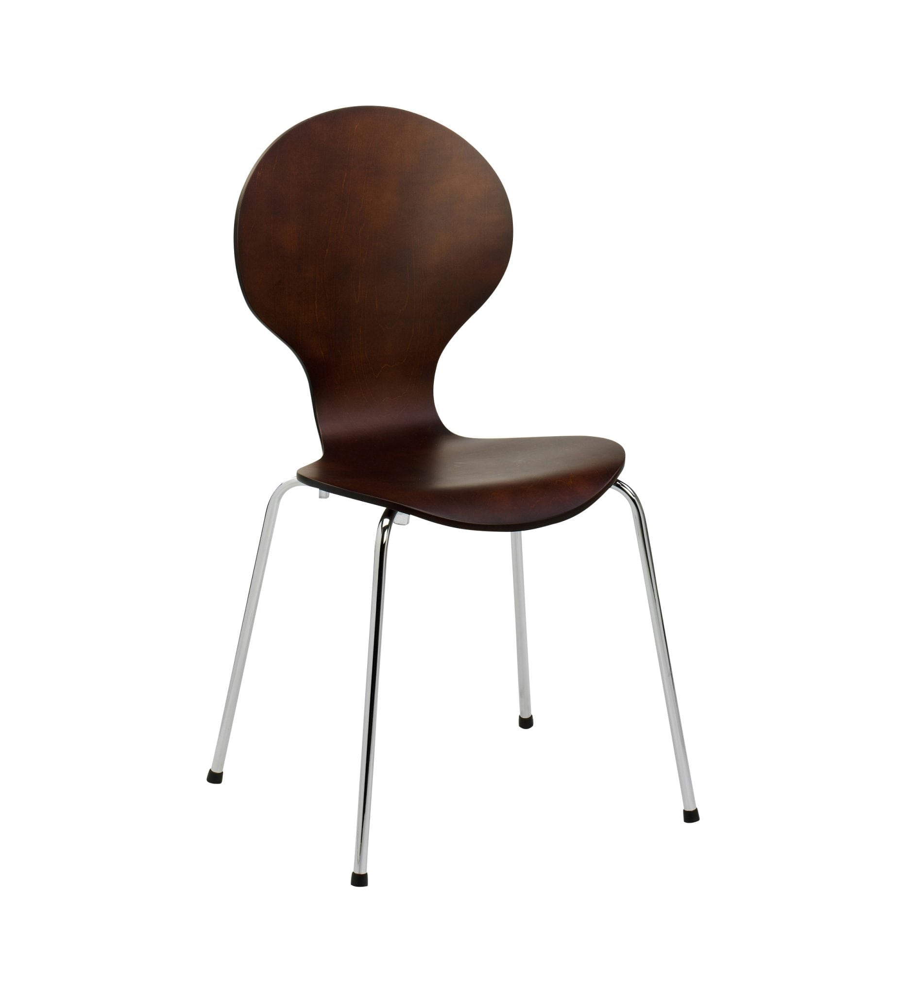 Athena - AT1W - Modern wenge wooden stackable chair for cafes, bars and restaurants – from Summit Chairs