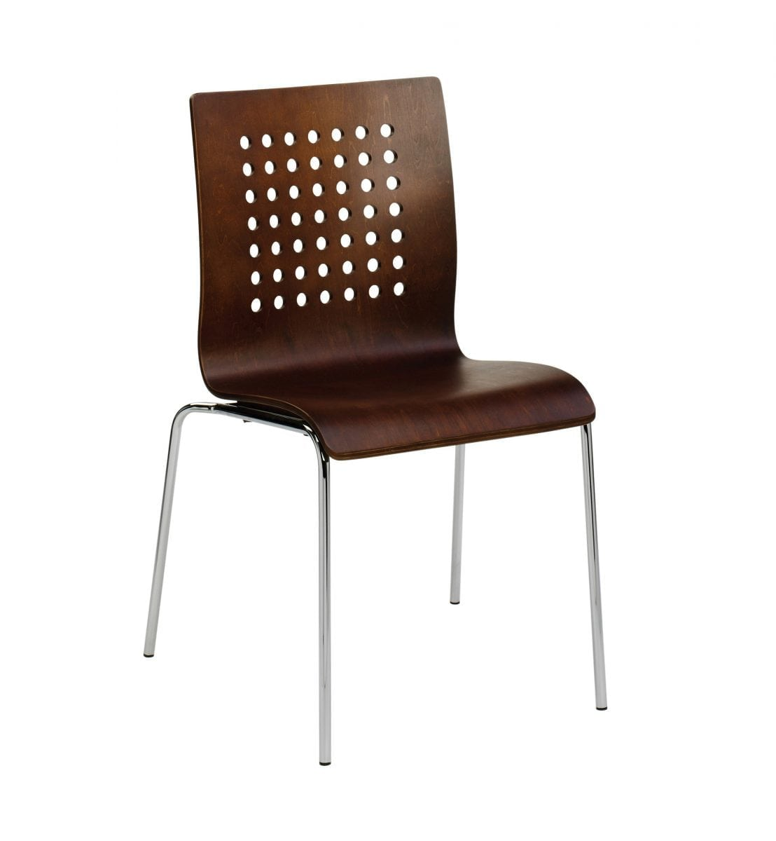 At5w Modern Wenge Wooden Stackable Chair For Cafes Bars And
