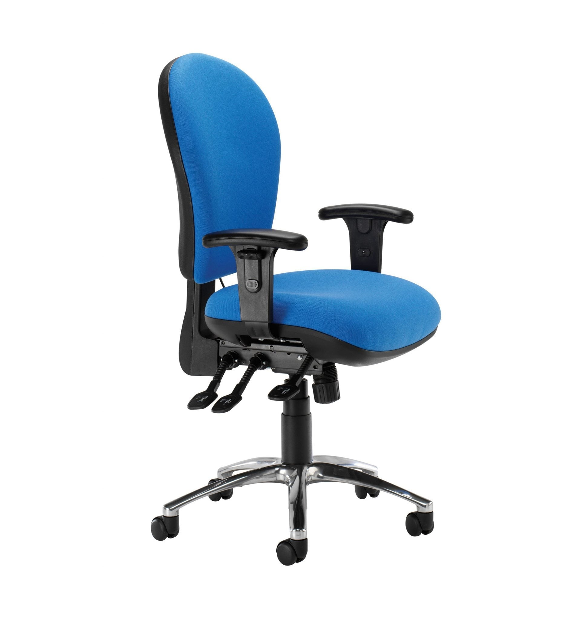 BL21ADJ – Blenheim range - Classic task office chair with advanced operator plus functionality and adjustable arms – from Summit Chairs