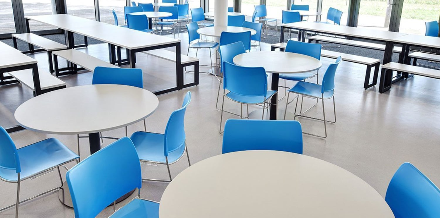 Launch of our new, environmentally friendly, high density stacking chair range, Modius