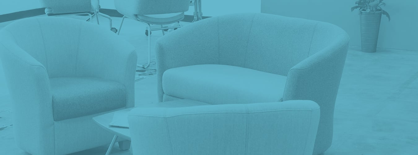 Waiting room chairs for professional environments