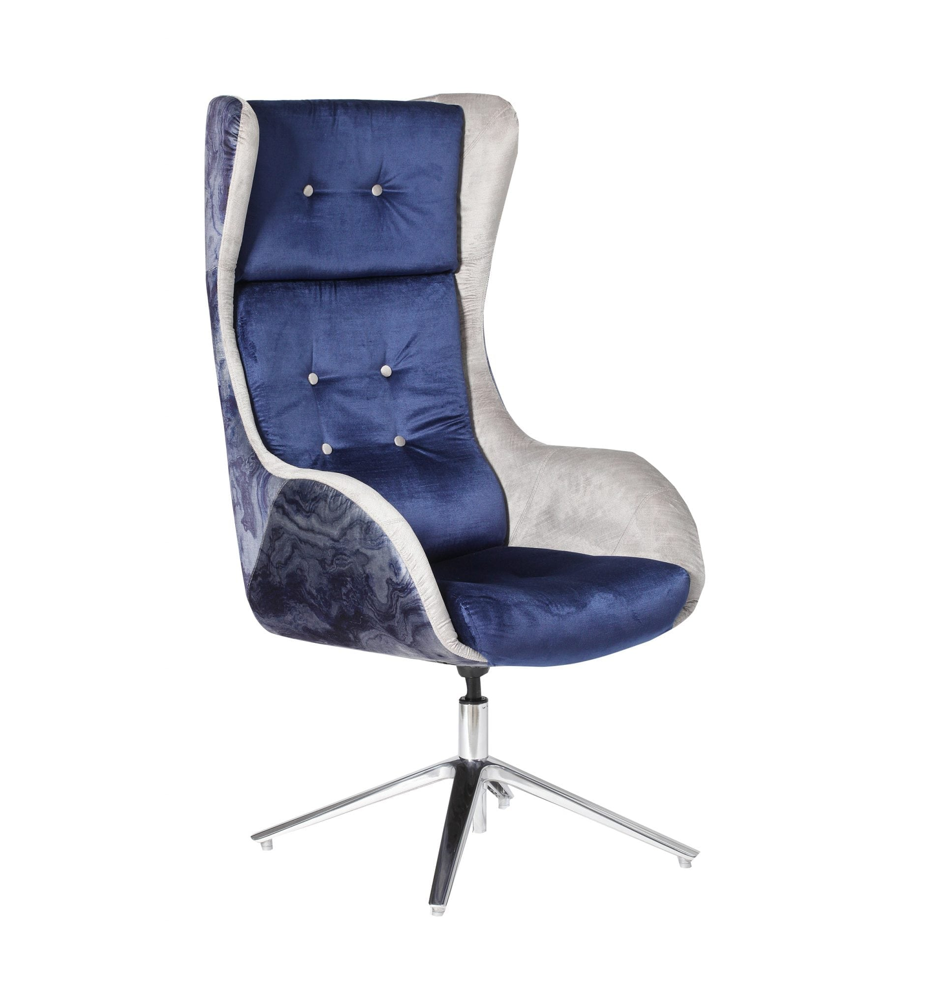 VLN12 - Villain - A high backed executive boardroom, meeting room or lounge chair with an aluminium star base