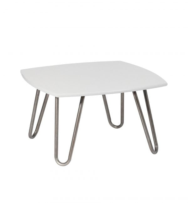 VLNT2 - Villain - Square shaped coffee table with contemporary hairpin legs