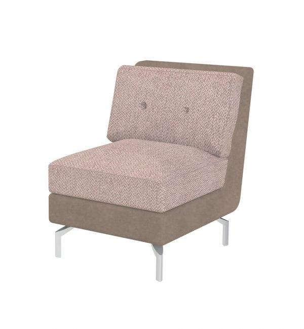 DE1 – Deco range - One seater tuxedo style modular sofa – from Summit Chairs