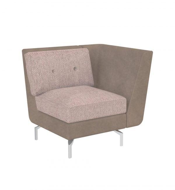 DE1AL – Deco range - One seater tuxedo style modular sofa – from Summit Chairs