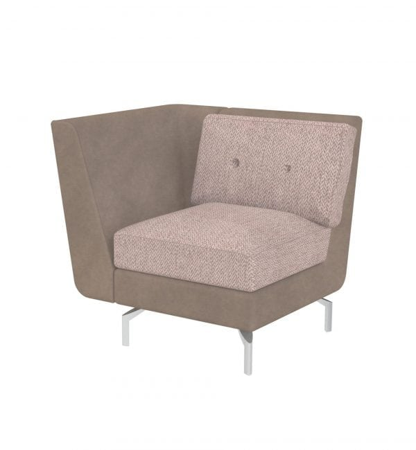 DE1AR – Deco range - One seater tuxedo style modular sofa – from Summit Chairs