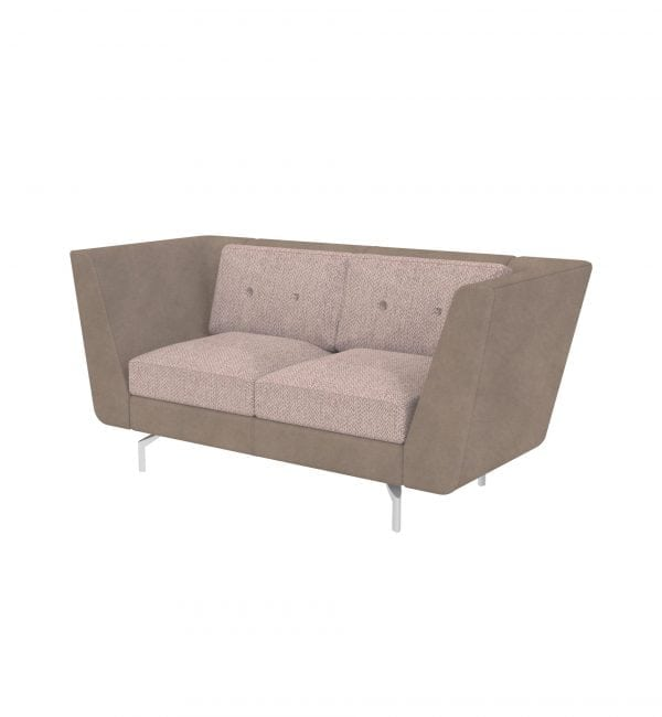 DE2A – Deco range – Two-seater tuxedo style modular sofa with arms – from Summit Chairs