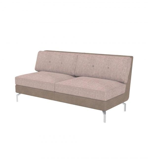 DE3 – Deco range – Three-seater tuxedo style modular sofa