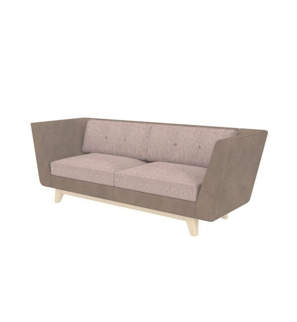 DE3A – Deco range – Three-seater tuxedo style modular sofa with arms – from Summit Chairs