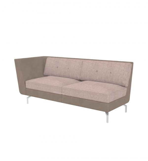 DE3AR – Deco range – Three-seater tuxedo style modular sofa with right arm– from Summit Chairs