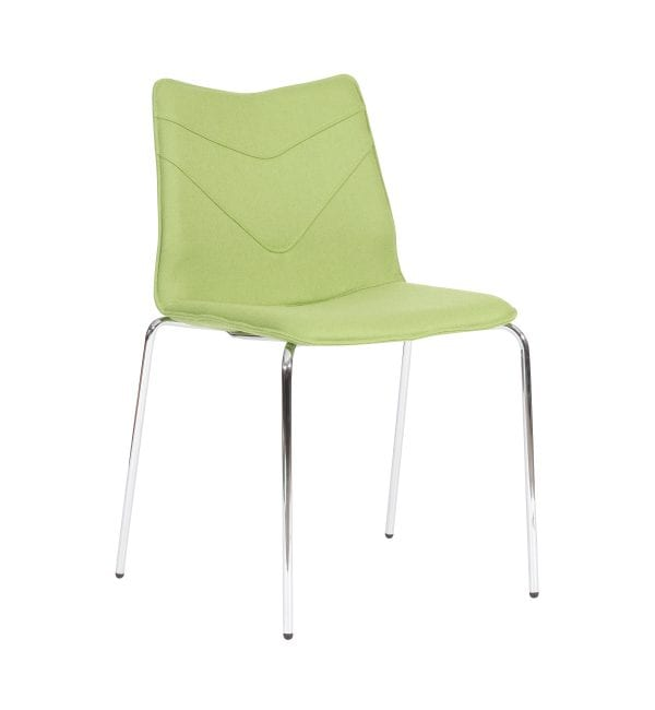 TV11 - TuVee range - Stylish 4-legged stackable chrome framed chair – from Summit Chairs