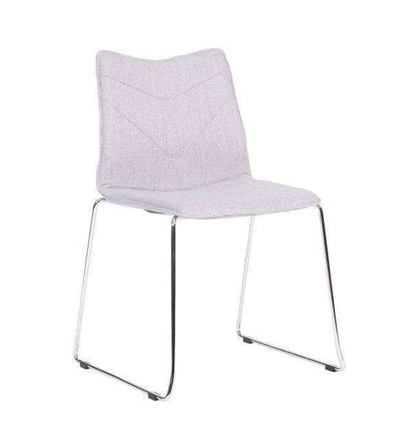 TV12 – TuVee range - Stylish stackable chrome skid framed chair