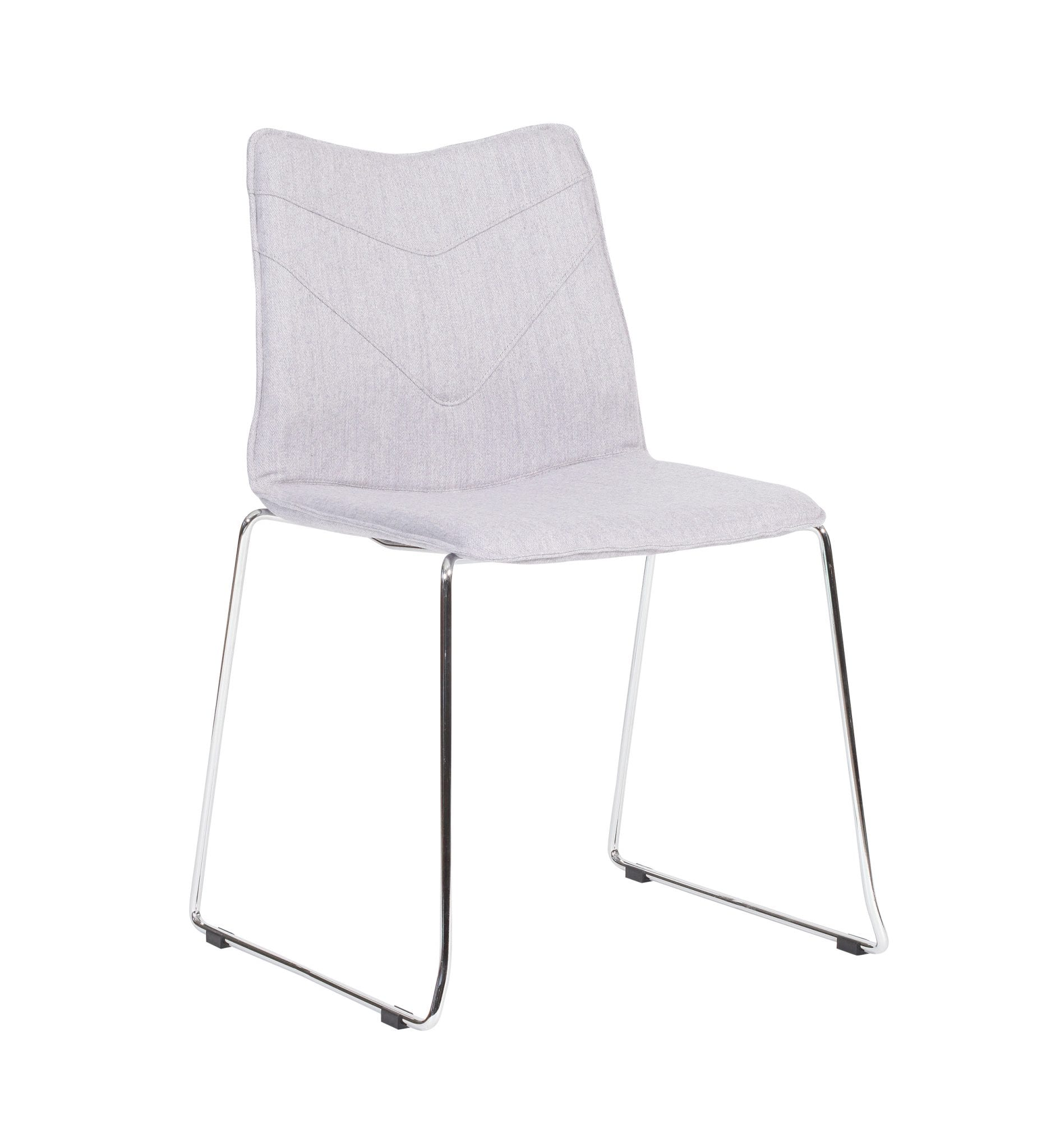 TV12 – TuVee range - Stylish stackable chrome skid framed chair