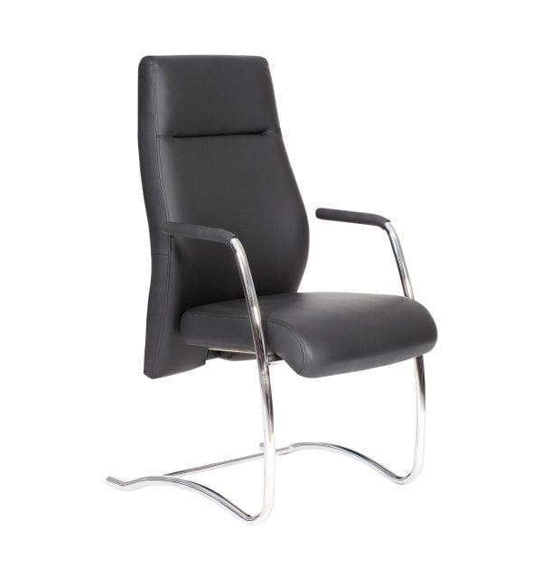 ECMA80A-black visitor chair