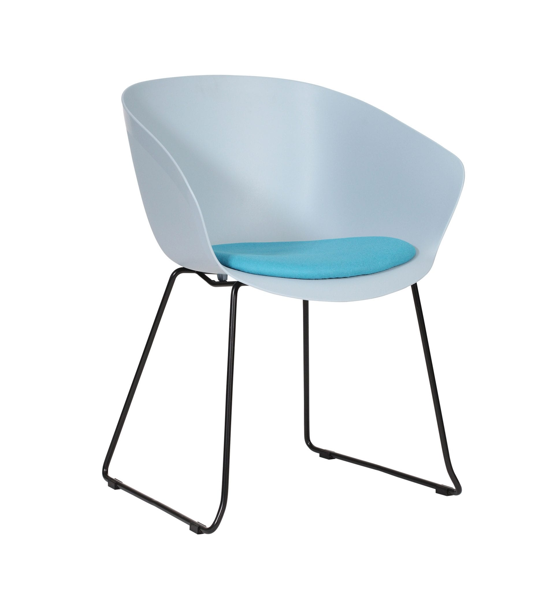 SO20 - Scoot range - multipurpose plastic armchair with upholstered seat – from Summit Chairs