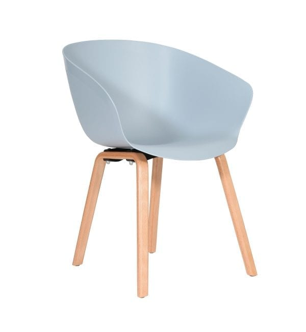 SO30 – Scoot range - multipurpose plastic armchair with wooden legs – from Summit Chairs