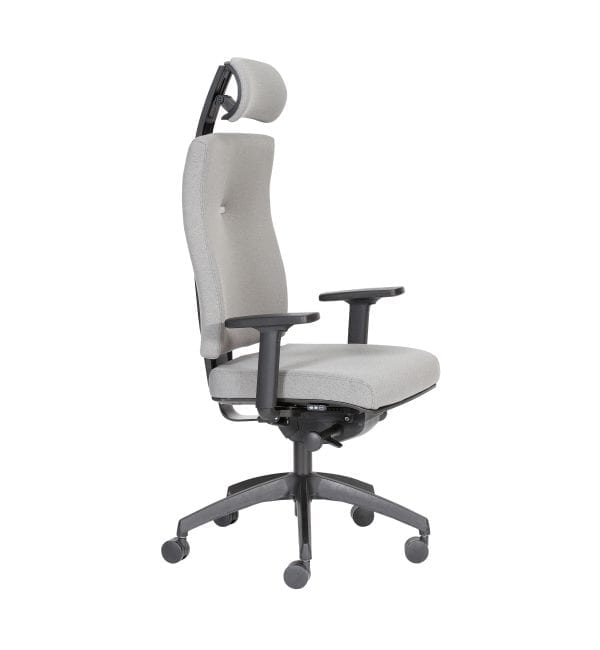 IM32 - Impact - Impact task office chair boasting inflatable lumbar support and Operator Synchro mechanism and adjustable headrest and arms