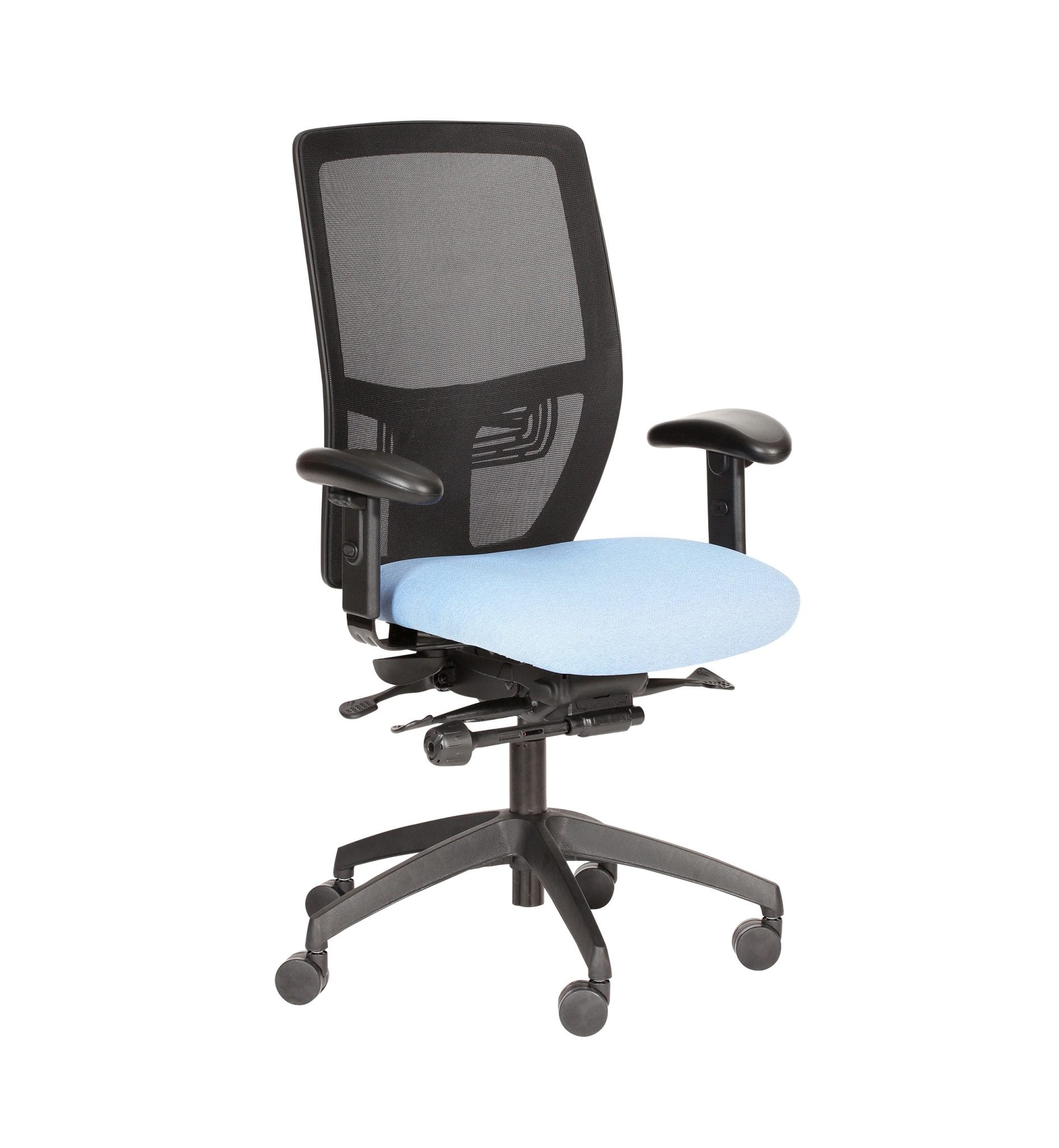 PMB73ADJ - Posturemax COOL - Office chair with adjustable arms for everyday use. Ideal for office and call centre use