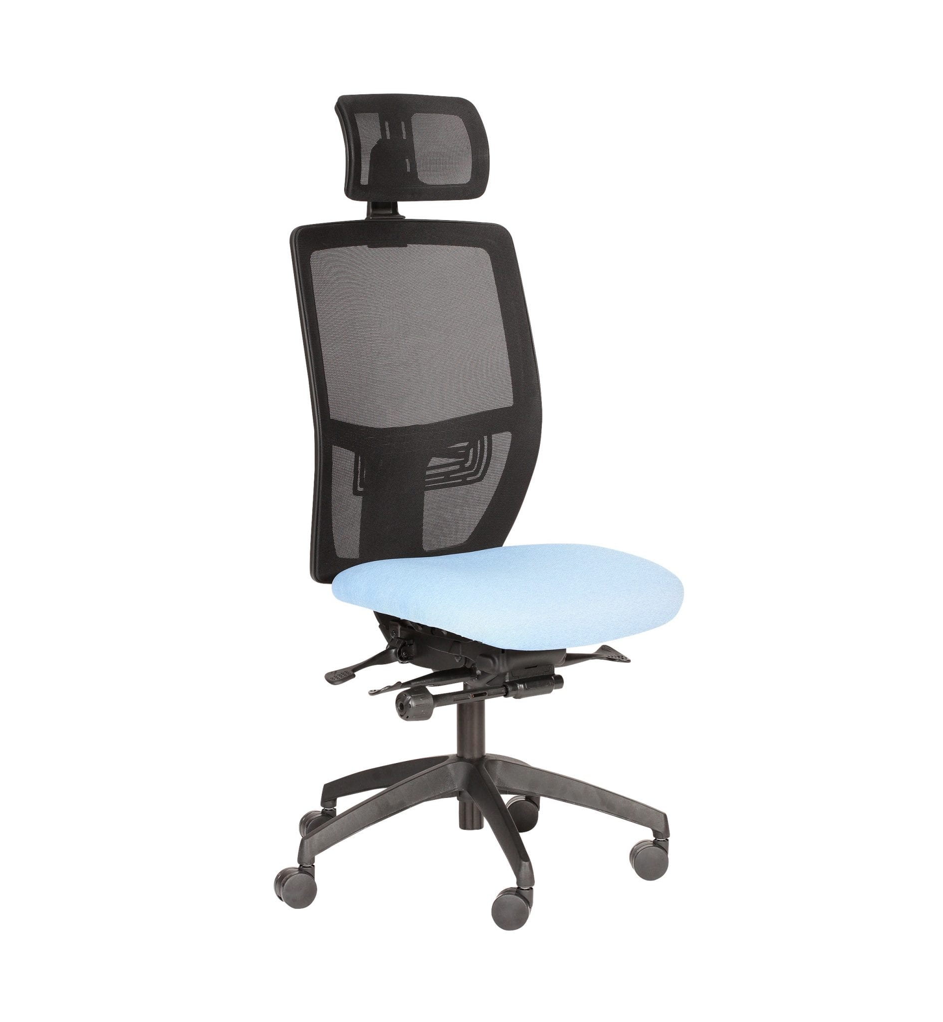 PMB83 - Posturemax COOL - Office chair with adjustable headrest easy adjustment. Ideal for office and call centre use.