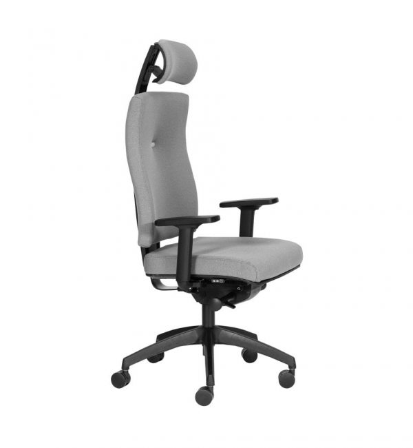 IM32ADJ - Impact - Impact task office chair boasting inflatable lumbar support and Operator Synchro mechanism and adjustable headrest and arms